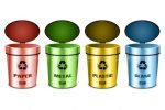 Selection of Coloured Recycling Bins